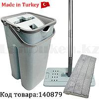 Набор для уборки швабра + ведро с отжимом 1 сменной насадкой поворот 360° 6 литров 2 отделения ZamBak ZP304