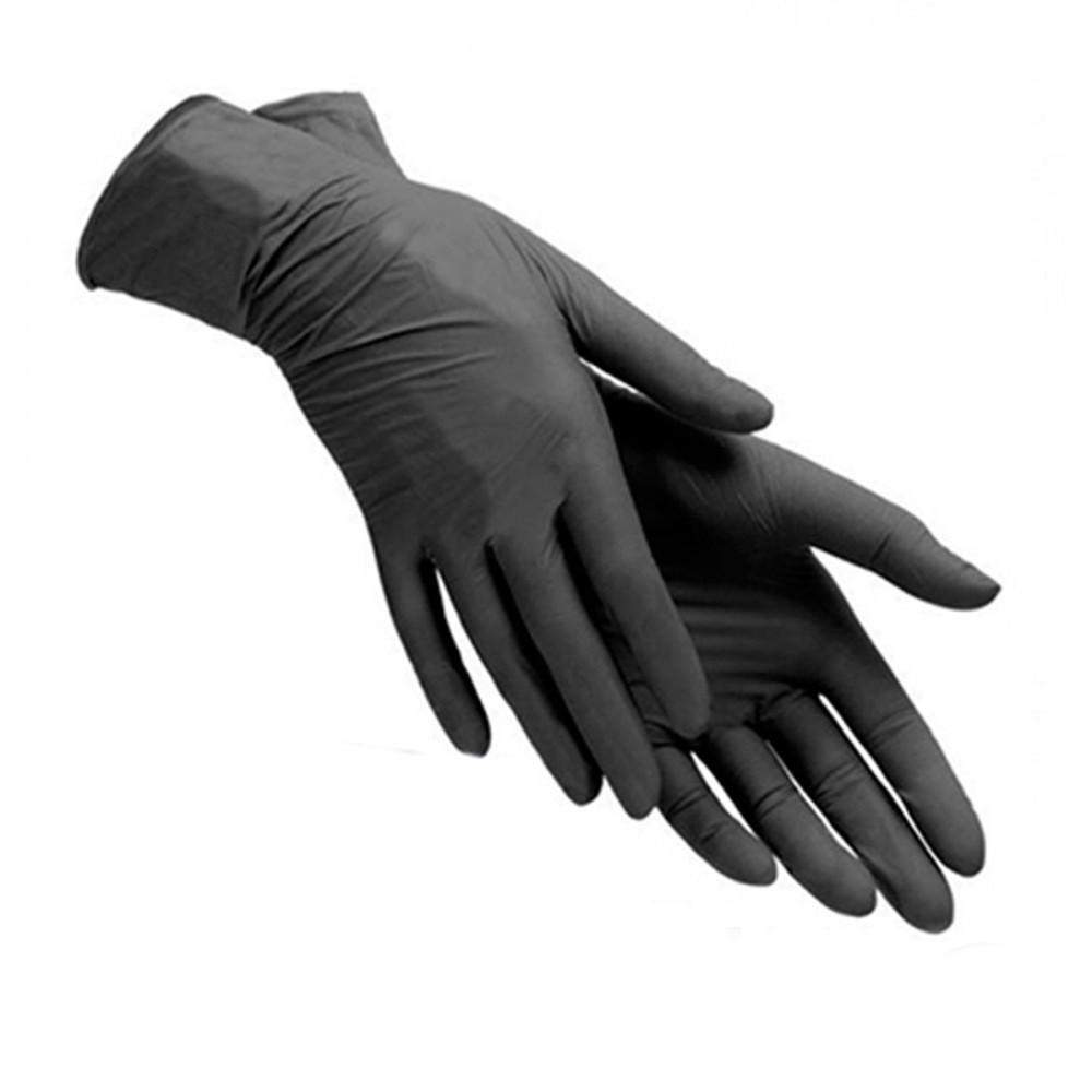 Перчатки черные нитриловые №100