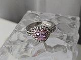 """Кольцо """"Розовое сердце"""", фото 4"""