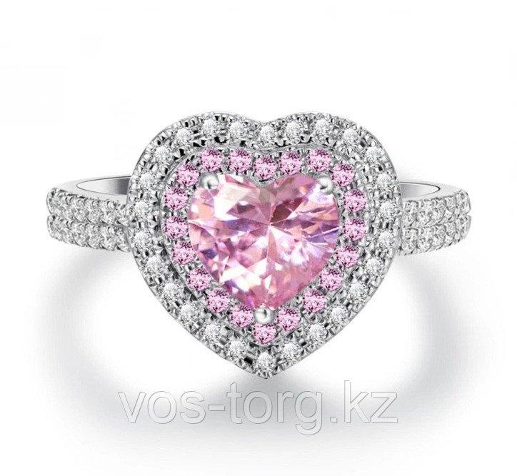 """Кольцо """"Розовое сердце"""""""