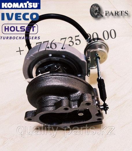 Турбокомпрессор, Turbocharger, Komatsu WB93R-5E0, WB97R-5, WB93S-5E0.