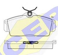 Тормозные колодки REMSA 704.10-AF