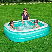 Детский надувной бассейн прямоугольный 201х150х51 см, Bestway 54005