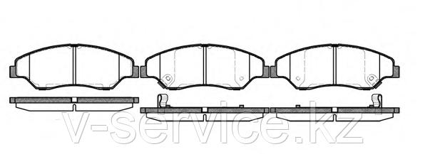 Тормозные колодки REMSA   739.02-AF
