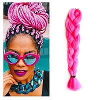 Канекалон накладные волосы одноцветные 60 см розовый A14