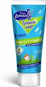 Крем от комаров тройной удар домовой