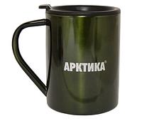 Кружка-термос ARCTICA с крышкой (0,3л)(8ч)(металл)-болотный