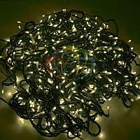 """LED гирлянда """"Клип-лайт спайдер"""" - 3 нити по 10 метров, 198 лампочек, тепло-белый свет, светит постоянно"""