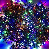 """Световая гирлянда """"Клип-лайт спайдер"""" - 3 нити по 10 метров, 198 лампочек, разноцветная, светит постоянно"""
