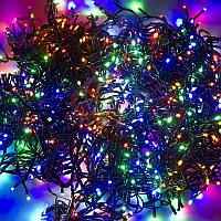 """Световая гирлянда """"Клип-лайт спайдер"""" - 3 нити по 20 метров, 399 лампочек, разноцветная, свечение с динамикой"""