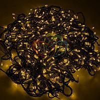 """LED гирлянда """"Клип-лайт спайдер"""" - 3 нити по 20 метров, 399 лампочек, желтый свет, свечение с динамикой"""