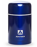 Термос АRСTIСA FOOD (0,75л)(чехол)(металл)(ложка)-синий