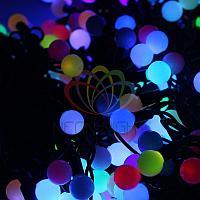 """LED гирлянда """"Клип лайт"""" Шарики"""" - 3 нити по 20 метров, 399 лампочек, разноцветная(RGB), свечение с динамикой"""
