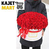 Букет 101 роза в коробке