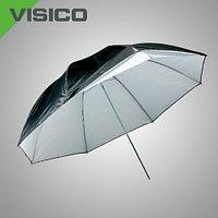 Зонт универсальный серебро/черный и прозрачный