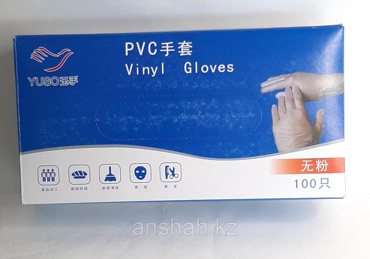 Перчатки Винил прозрачный неопудренные не стерильные YUSO  50 пар