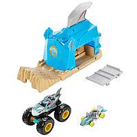 Hot Wheels игровой набор Монстр-Трак Пусковой гараж Акула, фото 1