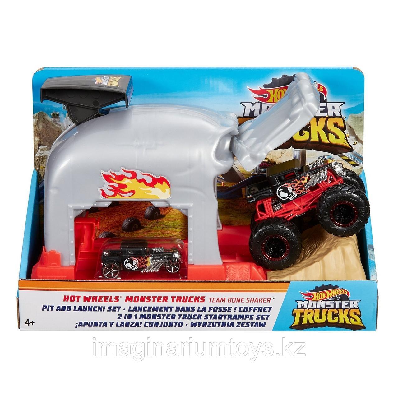 Hot Wheels игровой набор Монстр-Трак Пусковой гараж Череп - фото 5