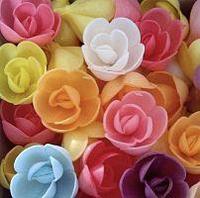 Вафельные большие розы, сложные МИКС 50мм