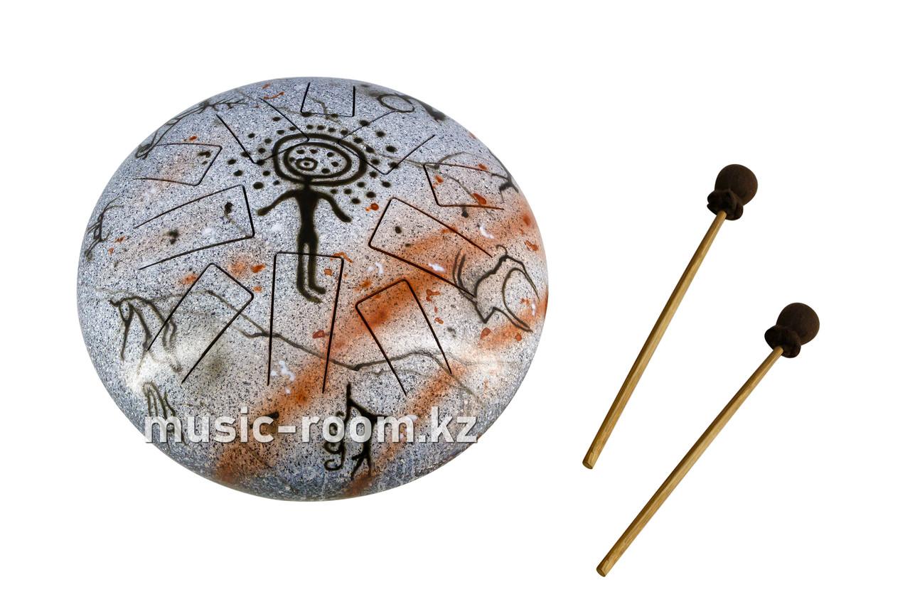 """Большой Глюкофон """"Солнцеголовый человек"""" на 10 нот, диаметр 30 см"""