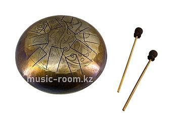 """Большой Глюкофон """"Цветы Инь Янь"""" на 10 нот, диаметр 30 см"""