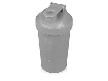 Шейкер для спортивного питания Level Up, серый