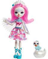 Кукла Enchantimals Саффи Лебедь и лебедь Пойзи FRH38