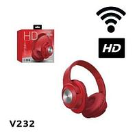 Bluetooth-наушники беспроводные HD Wireless V232 (Красный)