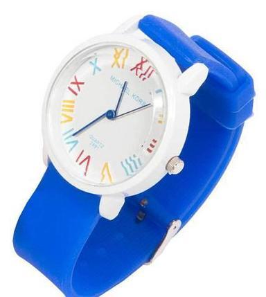 Часы наручные реплика Michael Kors MK-2491 на силиконовом ремешке (Синий), фото 2