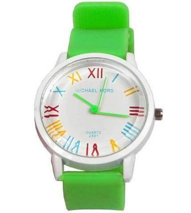 Часы наручные реплика Michael Kors MK-2491 на силиконовом ремешке (Зеленый), фото 2