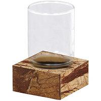 Стакан из стекла с подставкой настольный (bidasar мрамор) Tura 2482112 Nicol