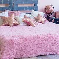 Плед-покрывало с длинным ворсом «Травка» Blumarine (Нежно-розовый)
