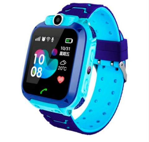 Умные часы детские водонепроницаемые с трекером, камерой и сенсорным экраном Smart Watch Q528 (Голубой)