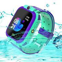 Умные часы детские водонепроницаемые с трекером, камерой и сенсорным экраном Smart Watch Q528 (Аквамарин)