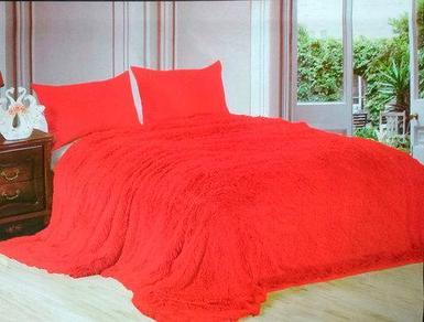 Плед-покрывало с длинным ворсом «Травка» Blumarine (Красный)
