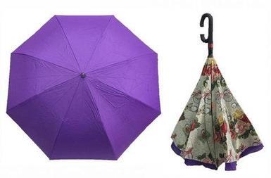 Чудо-зонт перевёртыш «My Umbrella» SUNRISE (Фиолетовая роса)