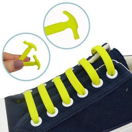 Шнурки силиконовые Good-Bye Tie {8+8} (Желтый), фото 2