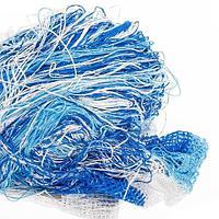Штора-лапша веревочная «Кисея-занавес из нитей» {3 x 3 метра} (Голубой с белым / без декора)