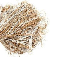 Штора-лапша веревочная «Кисея-занавес из нитей» {3 x 3 метра} (Золотой с белым / без декора)