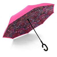 Чудо-зонт перевёртыш «My Umbrella» SUNRISE (Розовая хохлома)