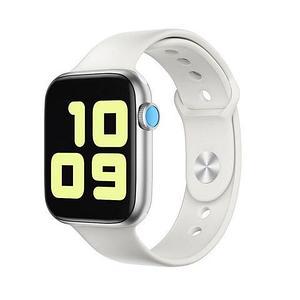 Часы умные IWO Smart Watch поколение T5 с датчиком пульса и артериального давления (Серебристый алюминий)