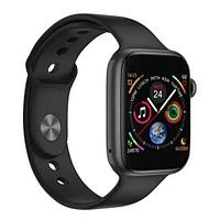 Часы умные IWO Smart Watch поколение T5 с датчиком пульса и артериального давления (Серый космос)
