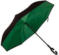 Чудо-зонт перевёртыш «My Umbrella» SUNRISE (Чёрная с зеленым)