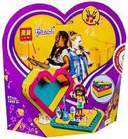 Конструктор LARI Friends в шкатулке-сердечко для девочек (Mandy)