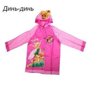 """Дождевик детский из непромокаемой ткани с капюшоном (S / """"Динь-динь"""")"""