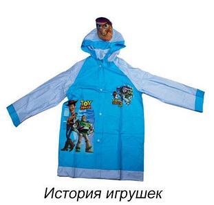 """Дождевик детский из непромокаемой ткани с капюшоном (S / """"История игрушек"""")"""