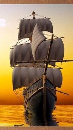 Электрообогреватель-картина гибкий настенный «Доброе тепло» 500W TeploMaxx (Корабль), фото 2