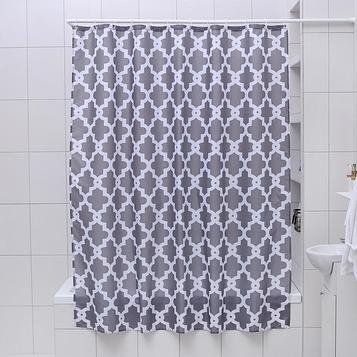 Штора для ванной комнаты Доляна «Марокко», 180×180 см, полиэстер, цвет серый