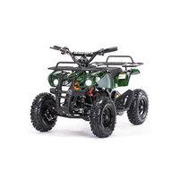 Детский электро квадроцикл MOTAX ATV Х-16 800W Мини-Гризли, зеленый камуфляж
