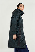 Пальто женское Finn Flare, цвет темно-зеленый, размер 2XL